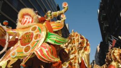 Todo listo para el desfile de Año Nuevo Chino