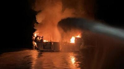 La Guardia Costera suspende la búsqueda de sobrevivientes del barco incendiado en California, tras recuperar 20 cuerpos