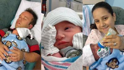 Exclusiva: Primeras imágenes del bebé de Carlitos 'El productor'