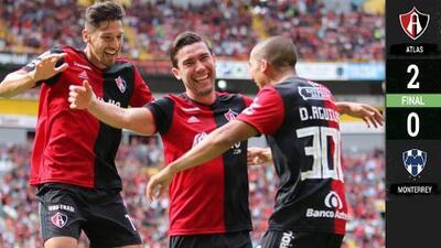 Atlas venció 2-0 a Monterrey y confirmó cómo se jugará la Liguilla del torneo