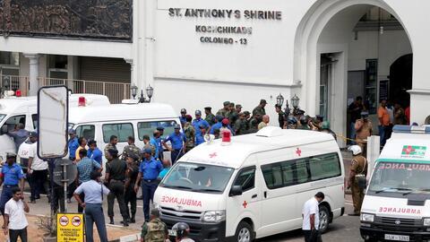 Atentados contra hoteles e iglesias de Sri Lanka durante las misas de Pascua