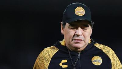 Diego Armando Maradona deja la dirección técnica de Dorados
