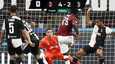 Pese a récord de Cristiano, Juventus cayó ante el AC Milán