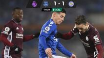 James Rodríguez se reencuentra con el gol en empate entre Everton y Leicester