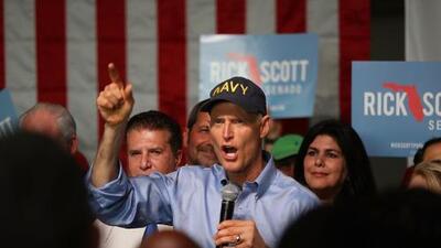 El gobernador de Florida viaja a Puerto Rico como parte de su campaña por el Senado