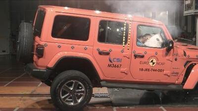 Jeep Wrangler falla importante prueba de choque frontal europea