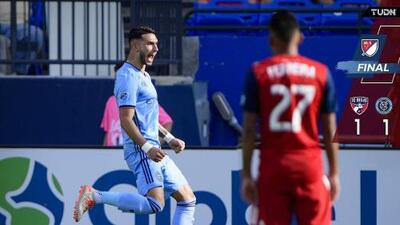 El Taty Castellanos anotó un golazo, pero un horror defensivo privó del triunfo al NYCFC