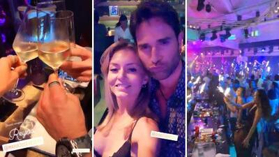 """Angelique Boyer y Sebastián Rulli prometen (y cumplen) que la van a """"armar de lío"""" en un cabaret en Ibiza"""