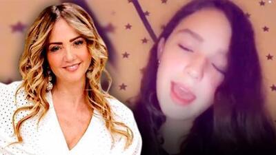 A la hija de Andrea Legarreta le llueven elogios de famosos al lucir su voz en redes sociales