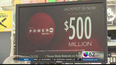 Lotería de Texas alcanza los 500 millones de dólares