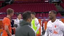 El intercambio de playeras entre Moreno y De Jong que generó polémica
