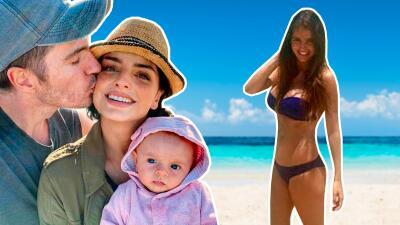 Con tacones, en bikini: así reaparecieron algunas famosas después de ser mamás