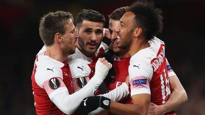Arsenal 2-0 Napoli - GOLES Y RESUMEN - IDA - CUARTOS DE FINAL - UEFA Europa League