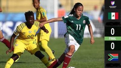 ¡Con polémica! Tri Femenil empata en debut del Mundial Sub-17 ante Sudáfrica