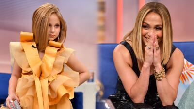 Esta 'mini JLo' estuvo frente a Jennifer López de nuevo y la volvió a impresionar copiando uno de sus looks