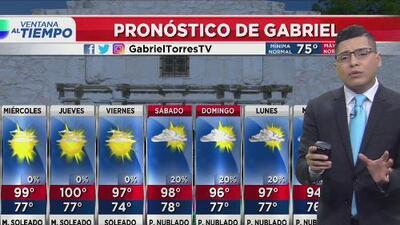 Inicio de semana con altas temperaturas en San Antonio