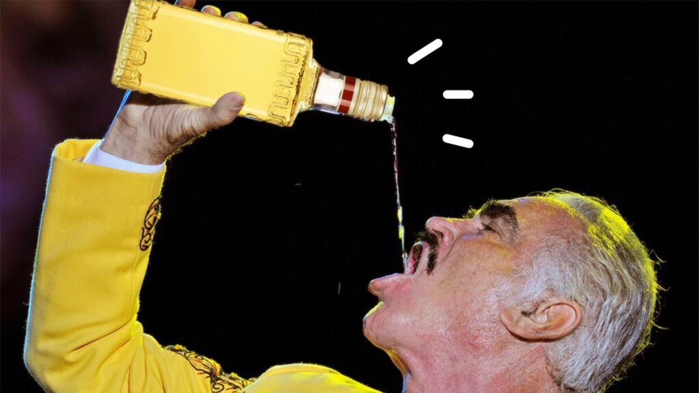 Resultado de imagen de vicente fernandez fotos con tequila
