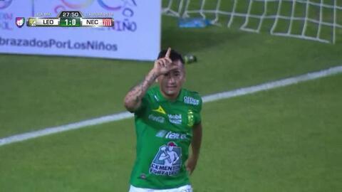 ¡Gol de La Fiera! León abre el marcador gracias a Jean Meneses