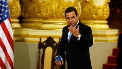 """Jimmy Morales suspende reunión con Trump: Guatemala no contempla pacto para ser """"tercer país seguro"""""""