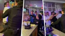 """""""Patada estilo karateka"""": Mujer guardia de seguridad agarra a golpes a dos clientes problemáticos hasta sacarlos del restaurante"""