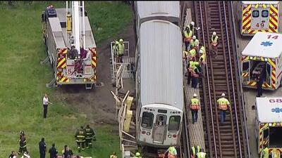 Se descarrila un tren de la línea verde de la CTA en Chicago y provoca la suspensión del servicio en una estación