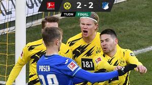 De villano a héroe: Haaland falla penal y luego rescata al Dortmund
