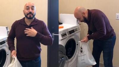 A Lupillo Rivera se le acabó la ropa limpia en plena gira y tuvo que ponerse a lavar en el hotel