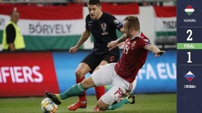 Hungría 2-1 Croacia - GOLES Y RESUMEN  - GRUPO E - ELIMINATORIAS - Eurocopa