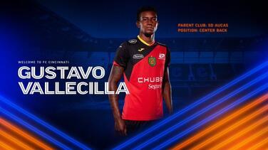 FC Cincinnati sumó a préstamo al ecuatoriano Gustavo Vallecilla