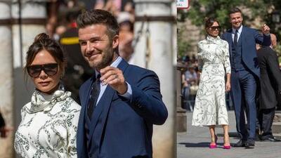 Con British Style, Victoria Beckham estropeó dresscode de la boda de Sergio Ramos