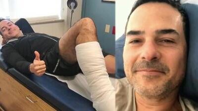 Adolorido, Carlos Calderón compartió imágenes de la cirugía que le practicaron para reparar su tendón de Aquiles