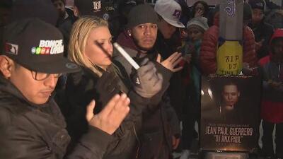 Decenas de personas asistieron a la vigilia en memoria del DJ Jinx Paul en Brooklyn