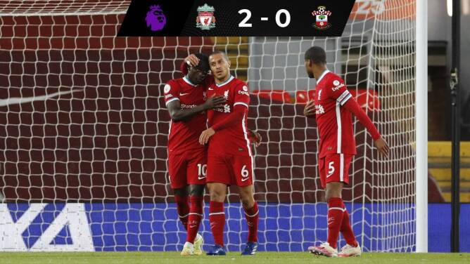 Europa a la vista: Liverpool vence a Southampton y ya es sexto de la Premier