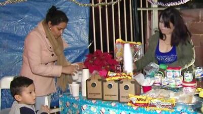 K-Love ayudó a una familia a festejar las posadas en Los Ángeles