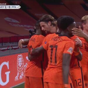 ¡Por fin llega el gol! Steven Bergwijn concreta el 1-0 de Holanda sobre Polonia
