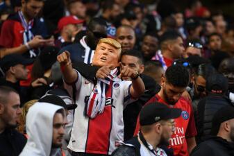 En fotos: hasta un falso Trump se unió a la fiesta de la Champions entre Liverpool y PSG
