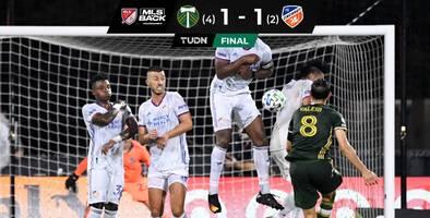 Portland regaló increíblemente el empate pero se repuso para ganar en penales