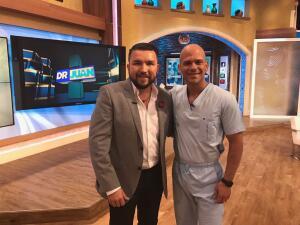 Poncho Lizarraga acompañó al Dr. Juan en su primer programa