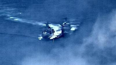 Un buque ruso y uno estadounidense casi chocan cerca de las costas de China