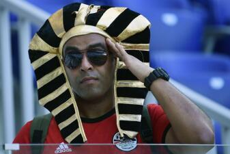 El colorido de los seguidores de Egipto y Arabia Saudita en su despedida del Mundial