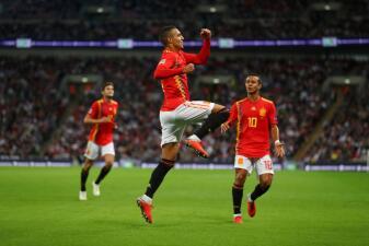 En fotos: España hizo historia en Wembley y Suiza goleó en la UEFA Nations League