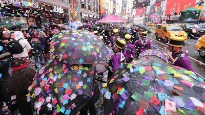 Times Square hizo un ensayo de la lluvia de confeti que se lanzará en fin de año