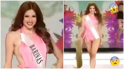 Miss Barinas, la reina de belleza venezolana a la que un seno se le escapó del traje de baño