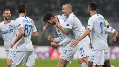 En fotos: Inter hace trizas al Rapid Wien y se clasifica a Octavos de Final de la Europa League