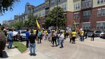 Protestan en Houston por la crisis que se vive en Colombia