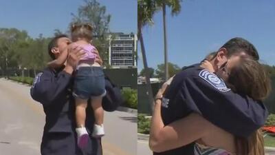 Emotivo recibimiento a bomberos de Miami que viajaron a las Carolinas para ayudar a víctimas de Florence