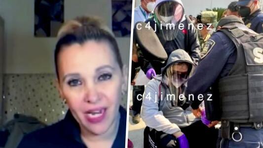 Aída Pierce reacciona al arresto de su hijo disfrazado para vacunarse