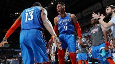 Carrusel NBA: triple-doble de Westbrook, Warriors acabó la racha de los Rockets y más