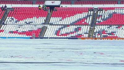 Extremo cuidado al césped del Estadio Azteca previo al América vs. Dorados por Copa MX