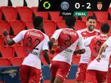 El Mónaco sorprende al PSG y se van del el Parque de los Príncipes con tres puntos